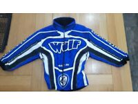 Wulf Sport Motocross Kit in blue: Including helmets, jersey, trousers, gloves and armour.