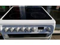 Hotpoint Ultima Ceramic Fan Assisted Double Oven 60cm Wide White & Silver V/ Good Condition