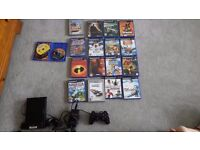 PlayStation 2 sony with 18 games
