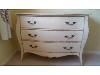 Next shabby chic french style 3 drawer chest of drawers - soft yellow