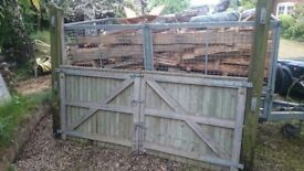 Pressure treated Garden Gates with Posts, Latches and hinges.