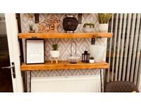 Rustic wooden shelves, Radiator shelves, Tables