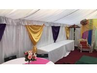 Marquee/tent hire, Mehndi Stage, Asian Wedding Stage, Sangeet decor