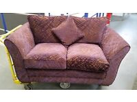 New - slight seconds purple fabric 2 seater sofa