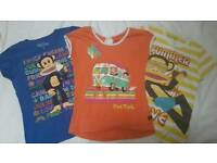 3 x Girls 'Paul Frank' summer tops/t-shirts