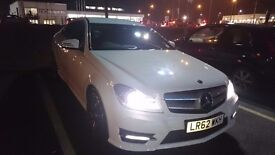 Mercedes Benz C250 AMG Sport Plus. Frost white