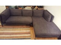 Habitat Newman charcoal corner sofa **Excellent Condition** RRP £3,200