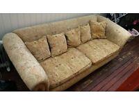 Huge 3 - 4 Seat Sofa - Super Comfy but old