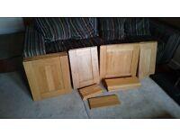 Solid oak kitchen doors, need gone so open