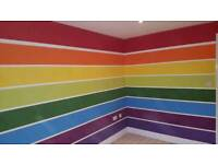 Painter and decorator painting wallpapering etc