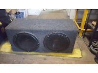 "kenwood twin 12"" subwoofer"