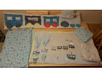 Boys cot set and curtains