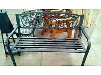 4ft Cast Iron Bench *reduced in winter sale*