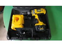 Dewalt Drill DC981 with 1x 12V Battery ,Charger and Case.
