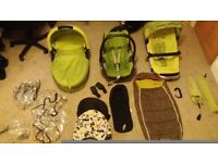 Lovely Lime Green Quinny Buzz Travel System