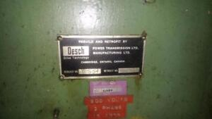 Mechanical press, 600 V, 3 PH, 18 Amps, retrofitted by Desch MFG.