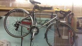 VIKING-VUELTA-MENS-ROAD-RACING-BIKE-700C-WHEEL-14-SPEED-ALLOY-45cm-FRAME-SILVER 5ft 6 to 5f 10