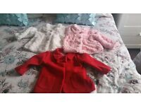 3x Bsby Girl Jackets Aize 6-9mnths