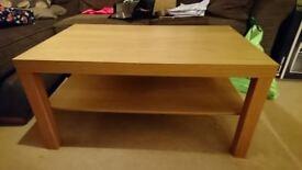 Oak effect coffee table