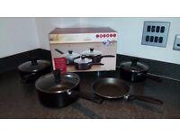 Set of saucepans and frying saucepan