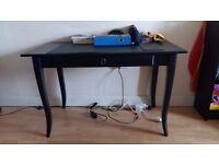 IKEA LEKSVIK Desk - Black - Solid Wood!
