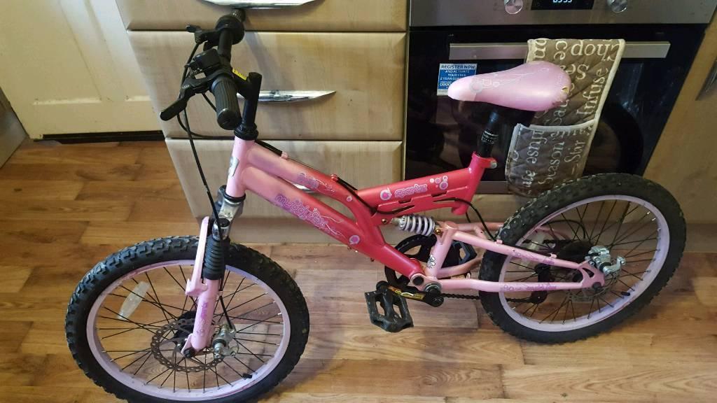 20 inch pink muddyfox bike