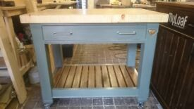 Kitchen island , butchers block, kitchen prep table, mobile kitchen work station