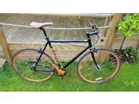 Adult Bike- Single Speed Fixed Wheel Bicycle- Mongoose Maurice