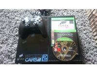 Xbox one with wired controller and 3 games