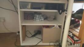 White Wooden Shelves Storage