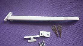 Concealed Window Stay Locking Lock Handle Bar White