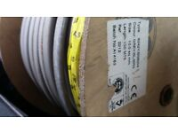 Type 6242Y/ BS 6004 Grey/Blue/Brown Length approximatley 68 meters Twin & Earth Electric Cable Wire