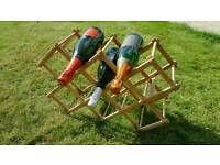 10 bottle collapsible wooden wine rack (wine not included!)