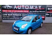 2011 (61) SUZUKI ALTO 1.0L SZ2 5 DOOR HATCH BLUE ONLY 40K S/HISTORY APRIL 2018 MOT £20 TAX CD E/W
