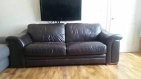 Chunky brawn sofa