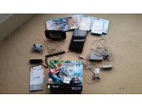 Ninetendo Wii U Premium Pack 32 G Black plus 9 Games