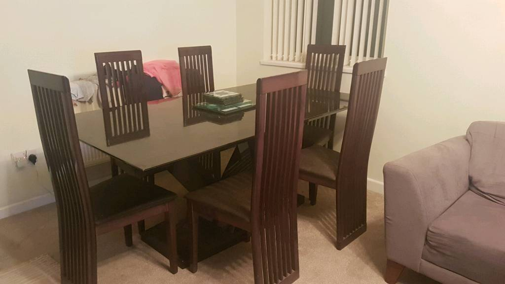 6 SEATER DINING TABLE FOR SALE BARGAIN 4 CHAIRS