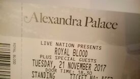 1 Royal Blood ticket, 21st November, standing