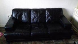 100% Real Italian Leather 3 seater sofa
