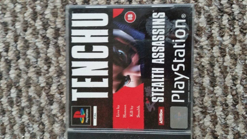 playstation 1 Tenchu Stealth Assassins boxed with instructions