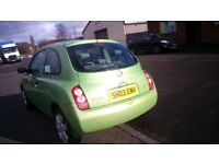 03 NISSAN MICRA SPARE OR REPAIR , 1.2,3DR HATCHBACK, MILEAGE 97000, MANUAL, GREEN REMOTE CENTLOCKING