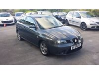 2008 / 58 PLATE Seat Ibiza 1.4 16v Sport rider 3dr Finished in Met Gunmetal 64K Miles