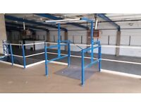 MEZZANINE FLOOR 14M X 10M WITH STAIRS DISMANTLED. REDUCED( STORAGE , PALLET RACKING )