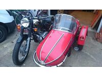 Royal enfield bullet and sidecar