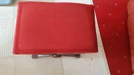 vintage foot stool/ dressing table stool
