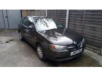 Nissan almera ....AUTOMATIC... 5 doors.black.quick sale....Bargain... 69k milege