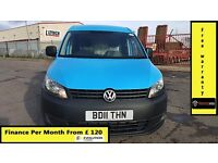 Finance-£120 P/M,VW-Volkswagen Caddy Maxi C20 1.9 TDI Lwb Van - Air Con- 1 Owner ,75K ,FSH- 1YR MOT