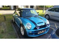 "STUNNING LOOKING MINI COOPER ""S"" IN ELECTRIC BLUE WITH 4"" SPOTS AND LEE COOPER BONNET STRIPES"