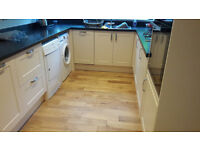 Light oak engineered wood flooring approx 5.5 square metres