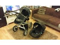 Graco buggy with car seat.